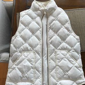 JCrew white puffy vest